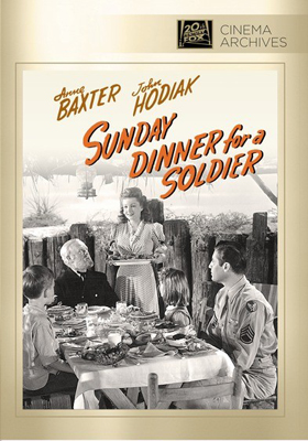 Fox Cinema Archives Sunday Dinner for a Soldier DVD-R