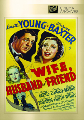 Fox Cinema Archives Wife, Husband and Friend DVD-R